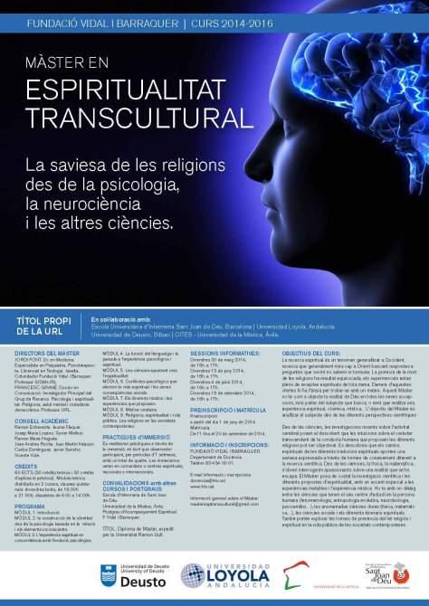 2ª Edición del Master Espiritualidad Transcultural 2014-16.