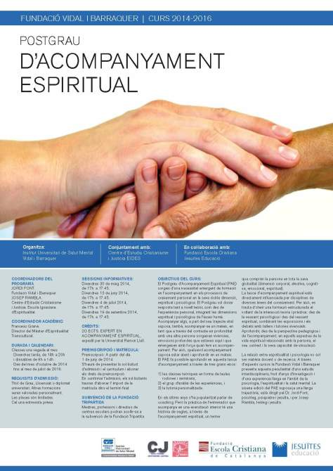 2014-2016. Cartell Postgrau Acompanyament Espiritual