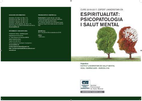POSTGRAU ESPIRITUALITAT PSICOPAPTOLOGIA I SALUT MENTAL