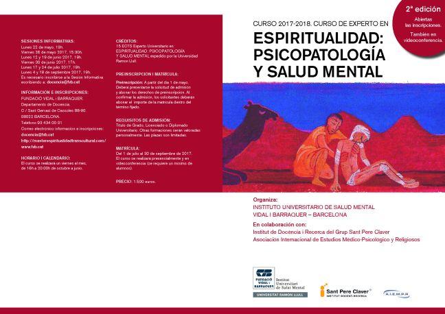 Espiritualidad Psicopatología y Salud Mental 17-18 1