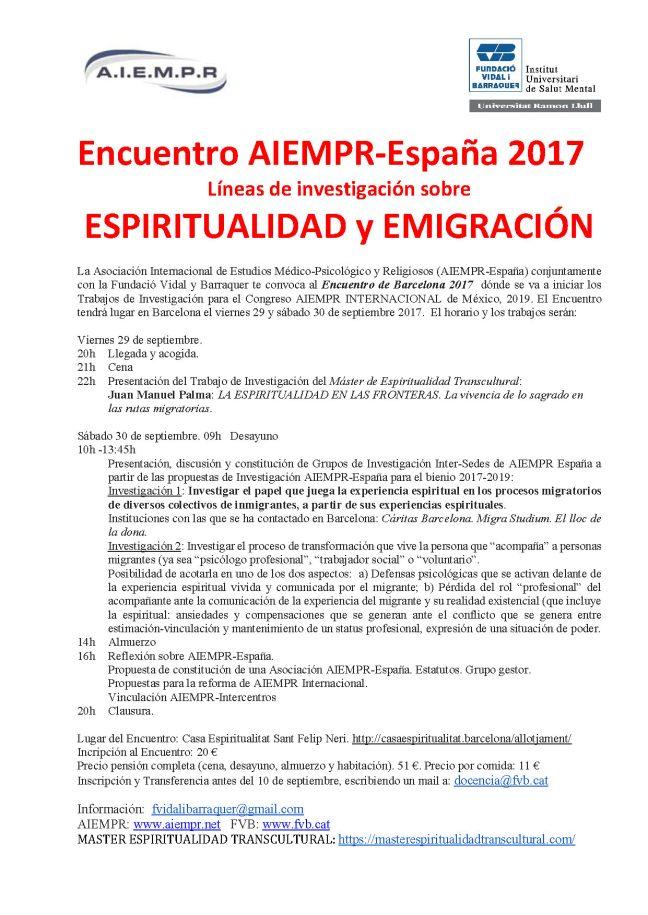 2017.09. Encuentro AIEMPR Barcelona